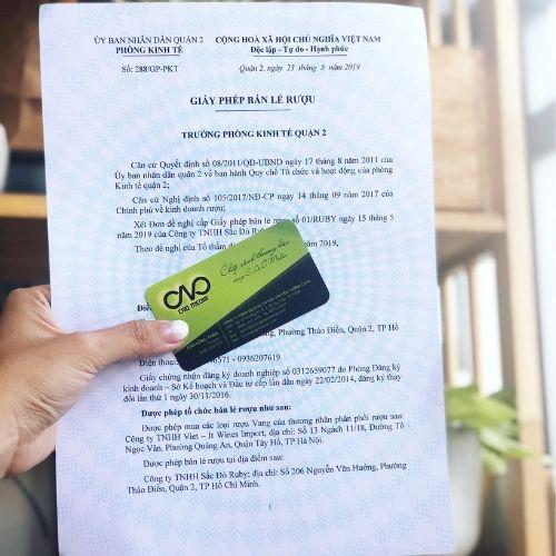 Cấp giấy phép bán lẻ rượu tại quận 2 theo Nghị định mới nhất