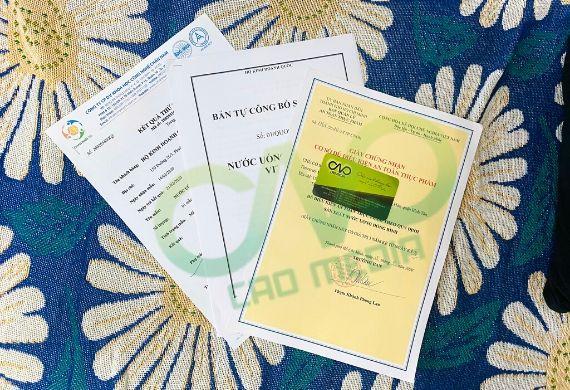 Xin giấy phép attp cho cơ sở sản xuất nước uống đóng bình