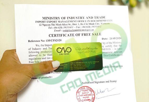 Hướng dẫn xin giấy phép lưu hành sản phẩm tự do cho bún khô