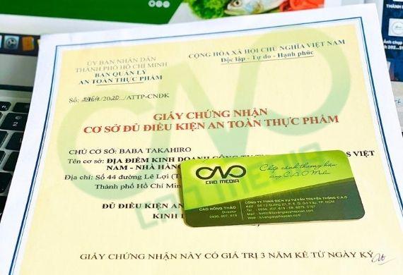 Thực hiện giấy phép an toàn thực phẩm cho cơ sở tại quận Tân Bình