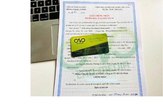 Dịch vụ làm giấy chứng nhận an ninh trật tự cho dịch vụ lưu trú