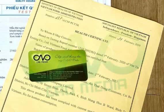 Đăng ký Health Certificate cho bánh pía xuất khẩu