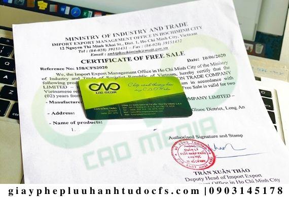 Làm giấy phép lưu hành tự do cho sản phẩm nước dừa đóng hộp