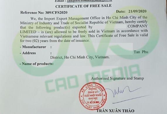Đăng ký Certificate Of Free Sale cho nấm rơm đóng hộp