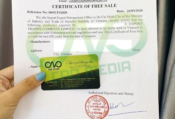 Đăng ký chứng nhận lưu hành tự do CFS cho rong biển sấy khô