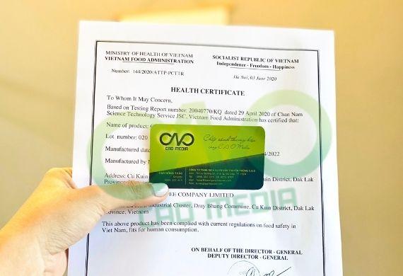 Xin giấy chứng nhận y tế cho mận sấy dẻo xuất khẩu