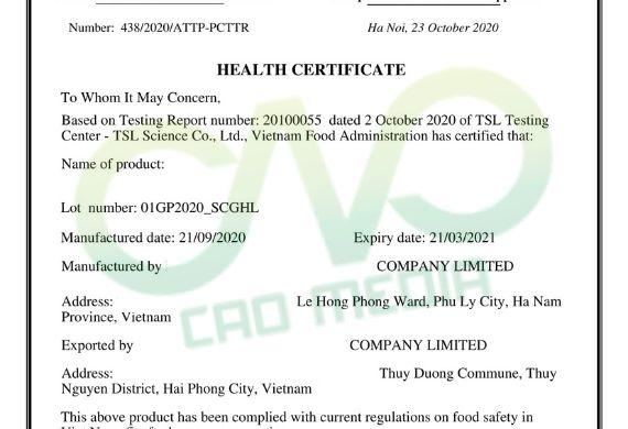 Doanh nghiệp xin giấy chứng nhận y tế cho tinh bột nghệ xuất khẩu