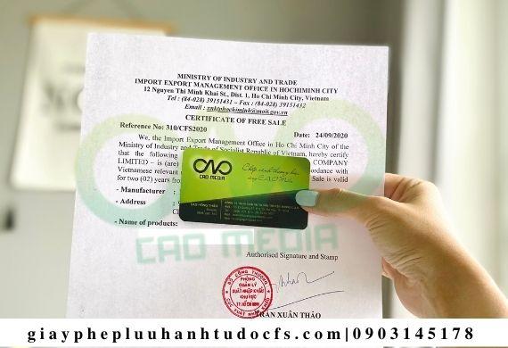 Xin giấy phép lưu hành tự do cho khoai lang sấy xuất khẩu