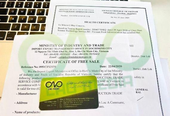 Thực hiện giấy phép xuất khẩu hạt macca