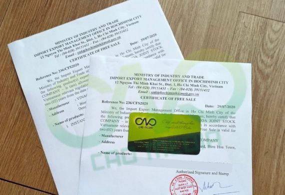 Quy trình xin giấy phép lưu hành tự do cho nấm hương khô xuất khẩu