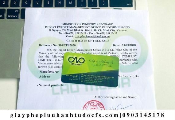Đăng ký Certificate of free sale cho mì trứng xuất khẩu