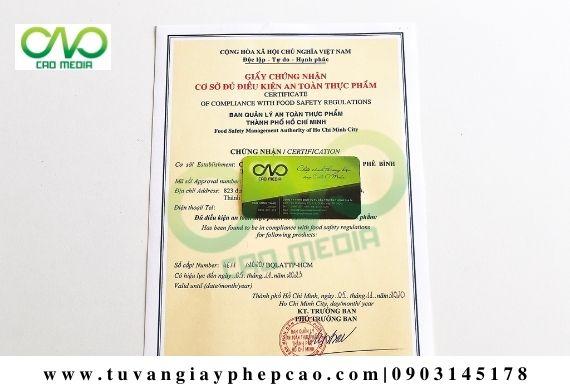 Xin giấy phép VSATTP cho cơ sở sản xuất tôm viên