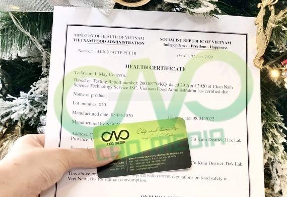 Tư vấn giấy chứng nhận y tế cho bột ca cao