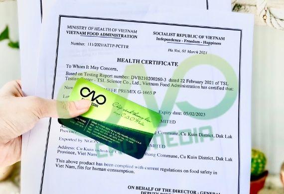 Giấy chứng nhận y tế HC cho bột ớt xuất khẩu