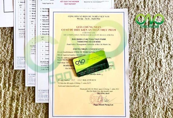 Mẫu giấy chứng nhận ATTP cho cơ sở chế biến nấm đông trùng hạ thảo