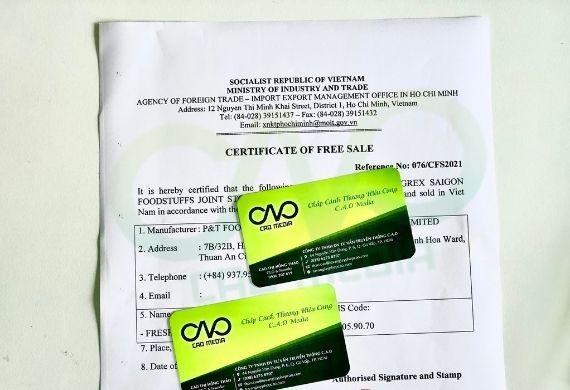 Thực hiện giấy phép lưu hành tự do cho ống hút rau củ xuất khẩu