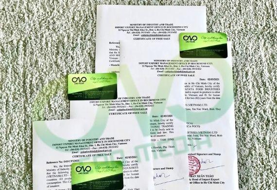Dịch vụ làm giấy phép xuất khẩu phụ gia thực phẩm