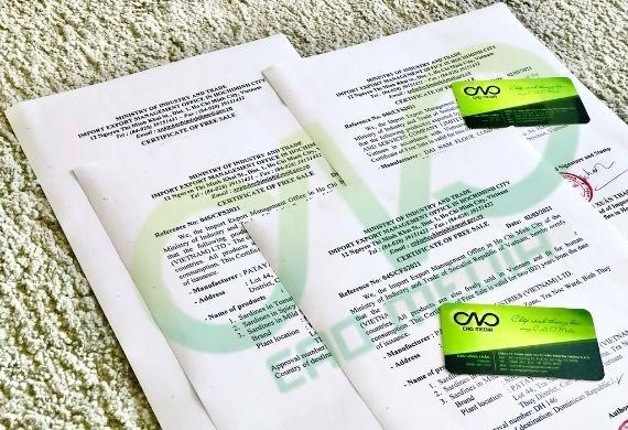 Giấy certificate of free sale cho thực phẩm hữu cơ xuất khẩu
