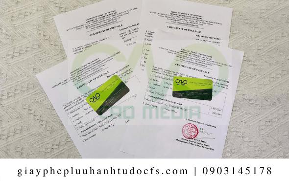Xin giấy chứng nhận lưu hành tự do cho trà hoa xuất khẩu