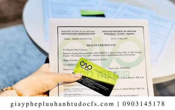 Xin giấy chứng nhận y tế cho trà hoa