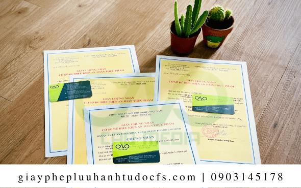 Xin giấy chứng nhận an toàn thực phẩm cho bánh bao đào tiên đơn giản