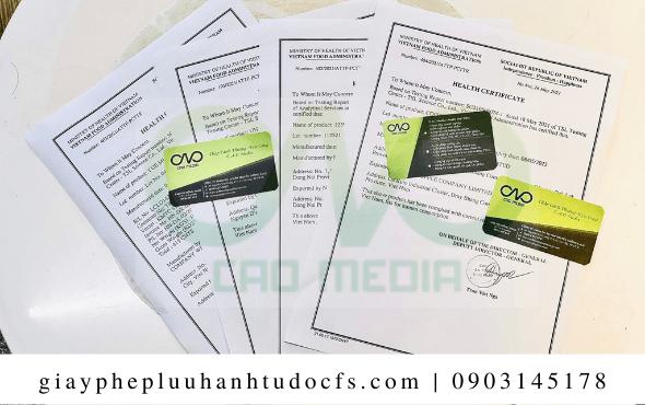 Quy trình xin giấy chứng nhận health certificate cho bánh bao cà chua