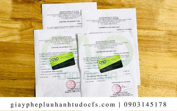 Xin giấy chứng nhận lưu hành tự do cho bánh bao cà chua
