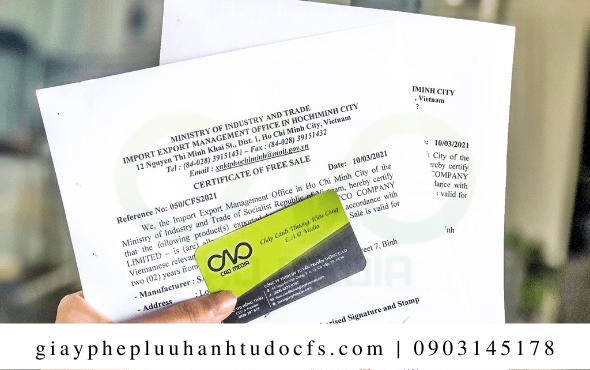 Hồ sơ để xin giấy chứng nhận lưu hành tự do cho bánh bao lá dứa
