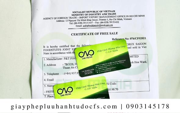 Hồ sơ để xin giấy chứng nhận lưu hành tự do cho bánh bao nấm nhân đậu xanh