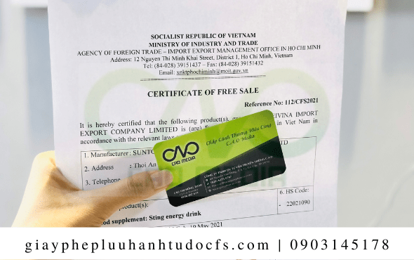 Hồ sơ để xin giấy chứng nhận lưu hành tự do cho bánh mì gà xé