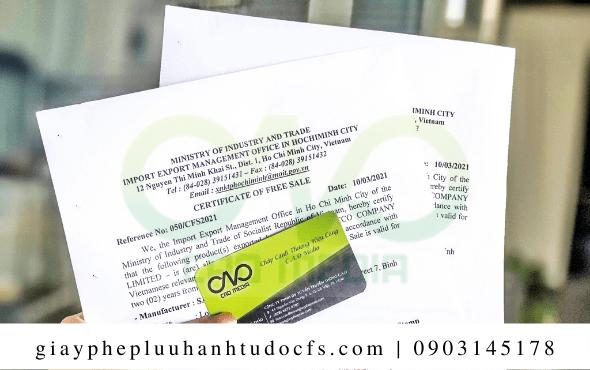 Xin giấy chứng nhận lưu hành tự do cho bánh mì hoa đậu biếc đơn giản nhất