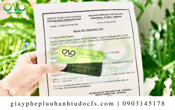 Quy trình xin giấy chứng nhận y tế cho bánh bao khoai mỡ