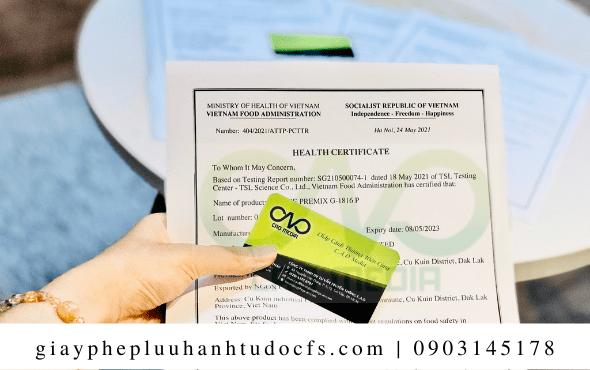 Quy trình xin giấy chứng nhận y tế cho bánh bao nấm nhân đậu xanh