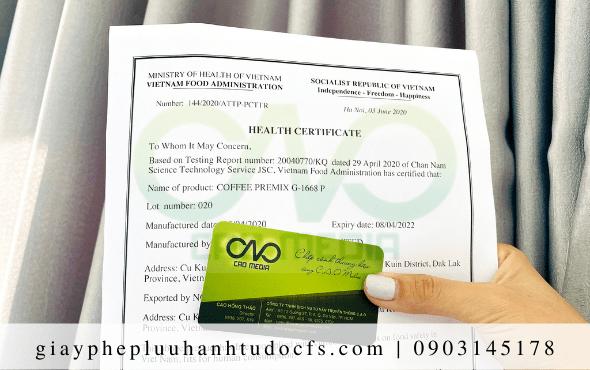 Quy trình xin giấy chứng nhận y tế cho bánh mì bí đỏ